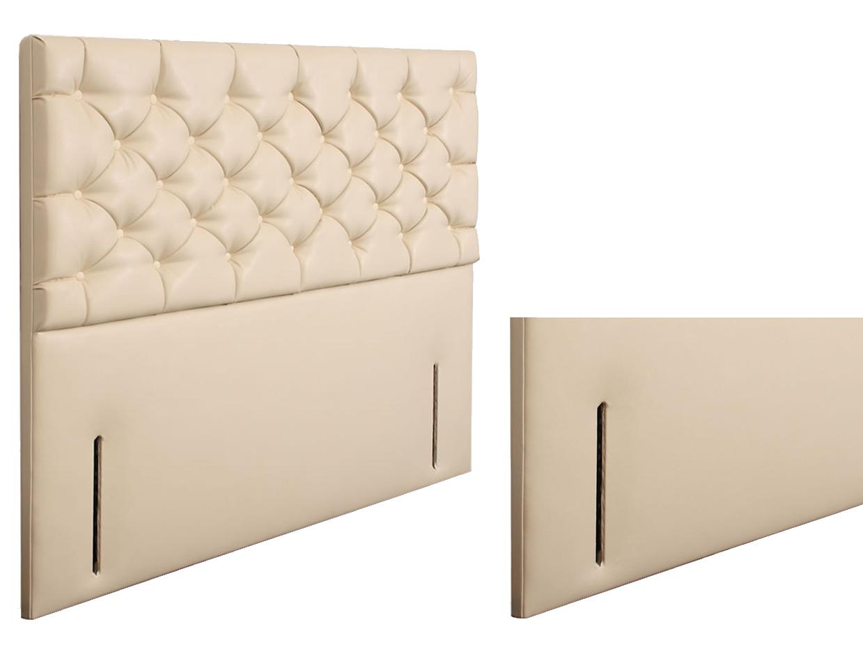 Karina chenille upholstered floor standing divan headboard for Divan beds uk
